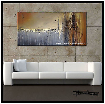 ABSTRACT MODERN PAINTING Canvas Wall Art 48in. Large Signed US  ELOISExxx
