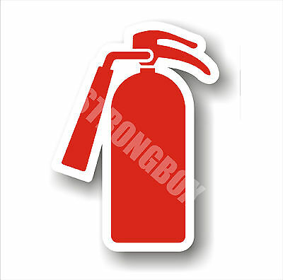 Industrial Safety Decal Sticker Fire Extinguisher Inside Graphic Only - Label