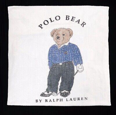 """Polo Ralph Lauren Teddy Bear Golf Bath Beach Towel 35"""" x 66"""" Vintage Spell Out Beach Teddy Bear"""