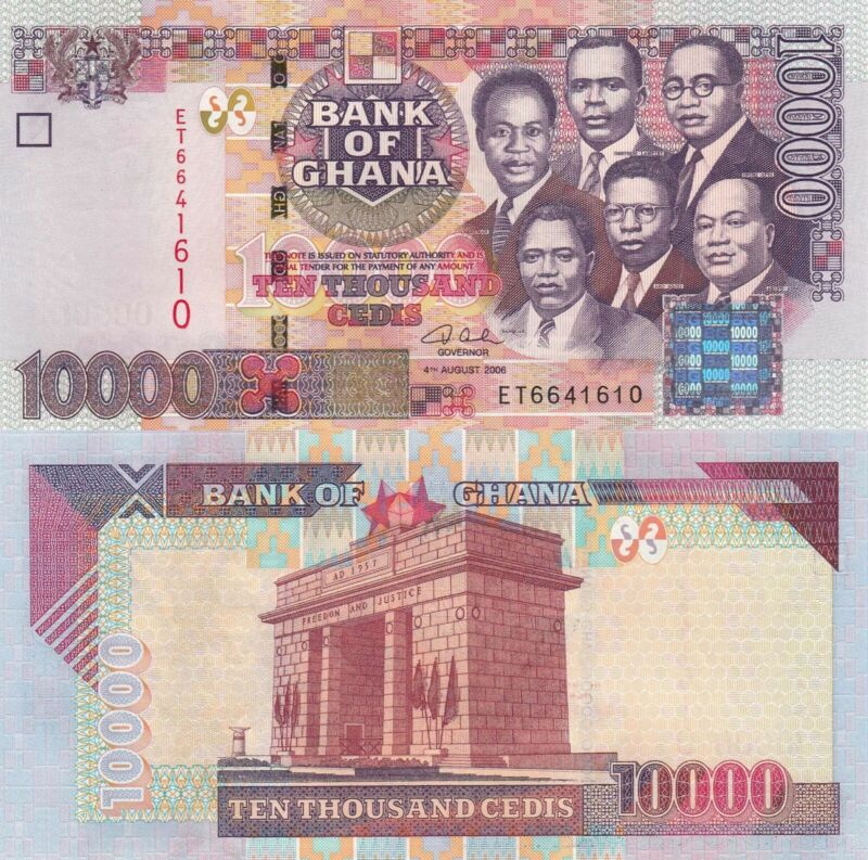 Ghana 10000 Cedis (4.8.2006) - p35c UNC