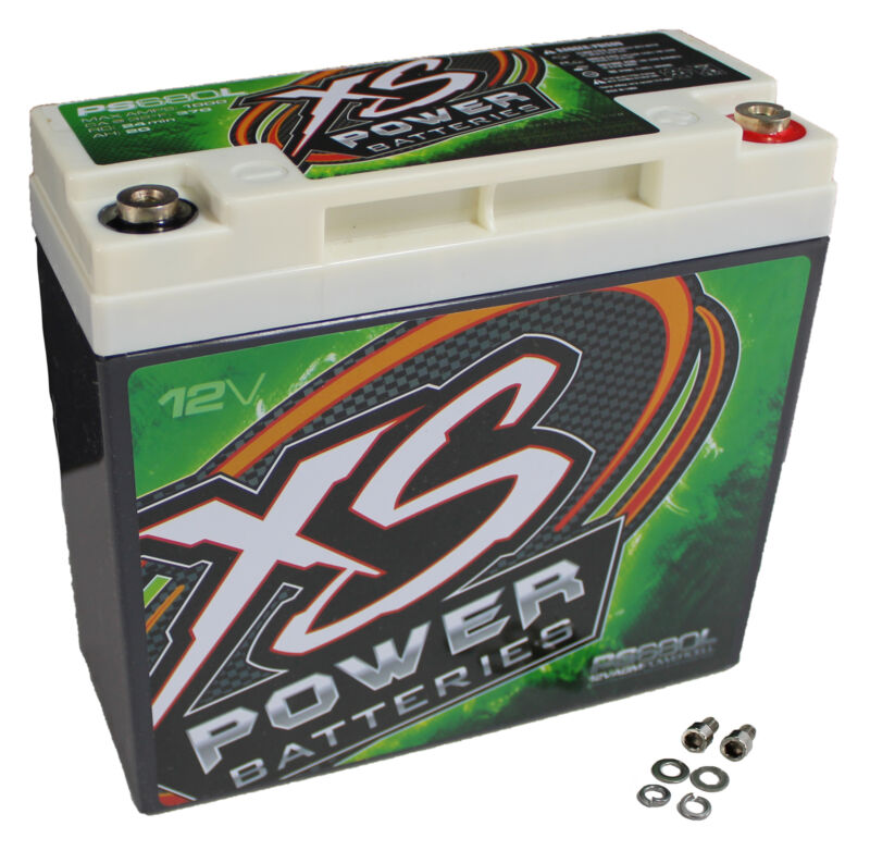 XS Power 1000 Amp 12V 1000W 20 AH AGM Battery for Powersport and Marine PS680L
