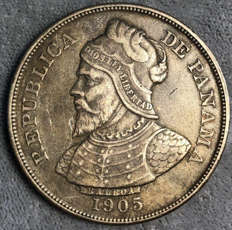 Panama 50 Centesimos, 1905. KM# 5.
