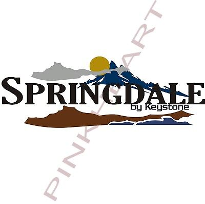 SPRINGDALE RV decal kit travel trailer graphics keystone stickers camper 2007