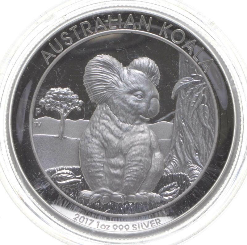 2017 Australian Australia Koala High Relief 1 Oz Silver .999