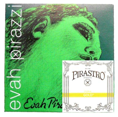 **Best Price** Evah Pirazzi Violin String 4/4 Set - PIRAZZI E GOLD PLATED BALL**