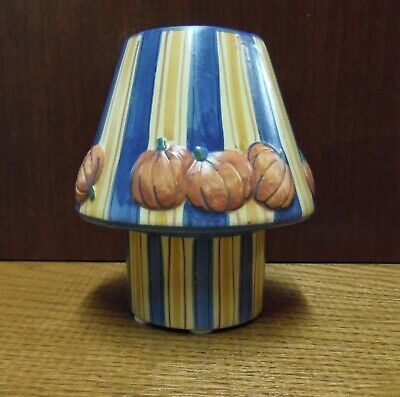 YANKEE CANDLE TEALIGHT HOLDER & SHADE WITH PUMPKINS FITS SMALL YANKEE JAR CANDLE