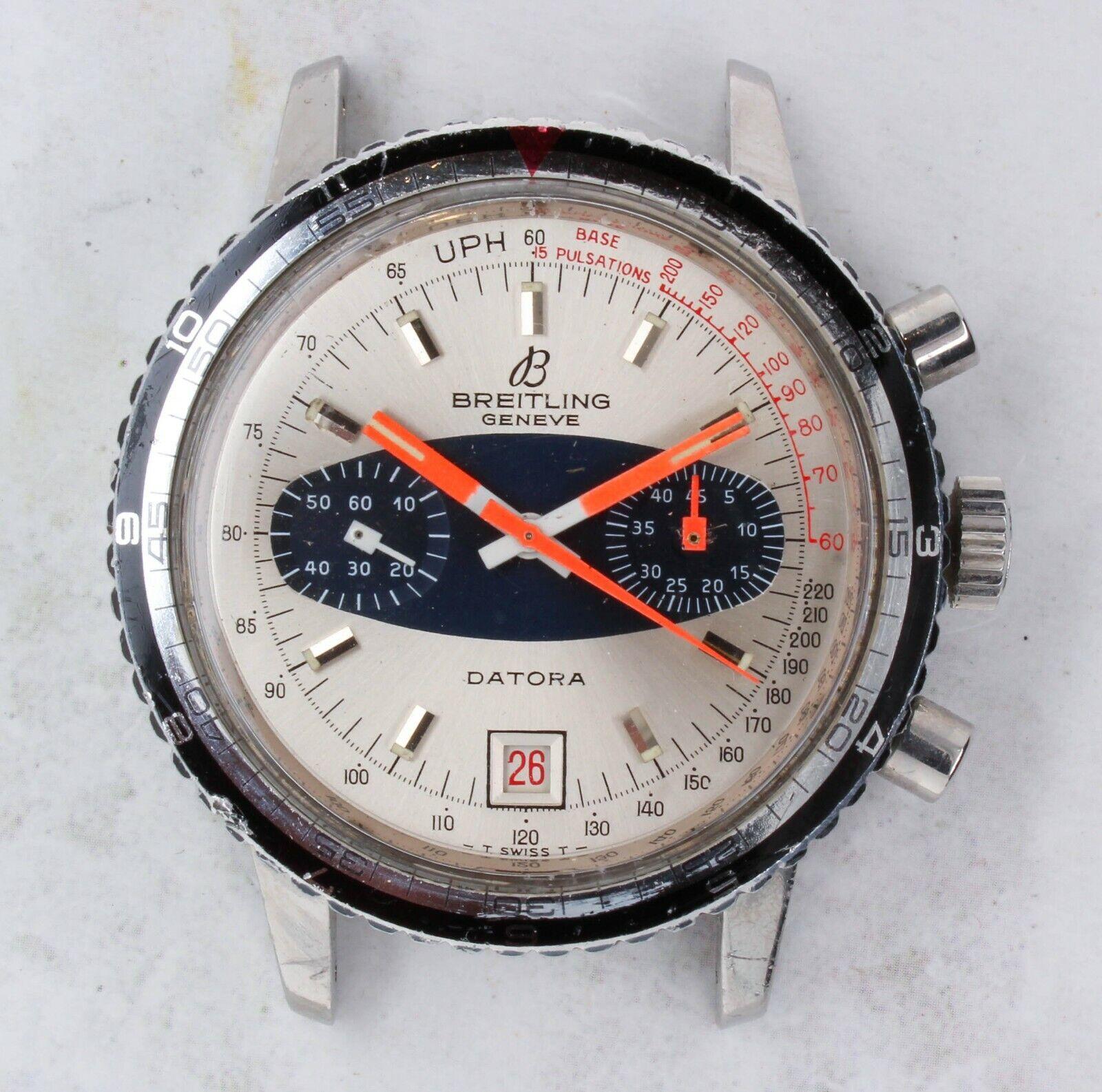 Vintage Breitling Datora Chronograph Wristwatch Ref. 2031 Valjoux 7734 RARE NR - watch picture 1