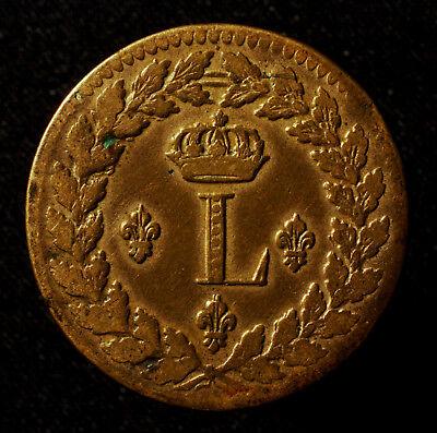 Ksr. Frankreich, Ludwig XVIII., 1 Décime 1815 BB