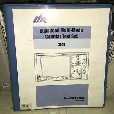 Ifr 2959 Cellular Test Set Operation Manual