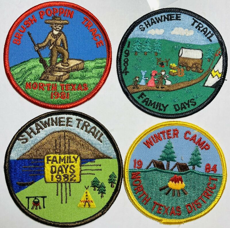 ROYAL RANGERS Patch Lot 1980's Winter Camp Family Days North Texas Shawnee