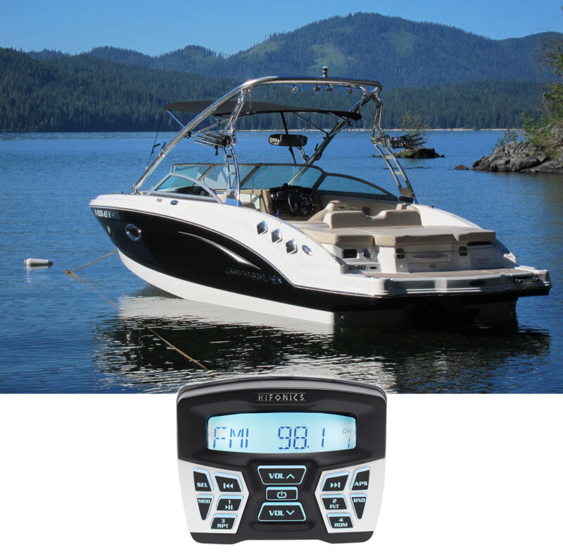 Hifonics TPS-MR1 Marine Gauge Hole Mount Bluetooth Receiver Radio Stereo 4 Boat