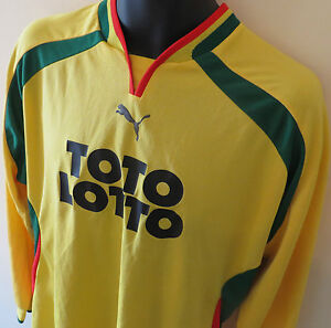 Vtg-PUMA-Football-Shirt-L-S-Soccer-Jersey-10-Toto-Lotto-Trikot-Camiseta-XL