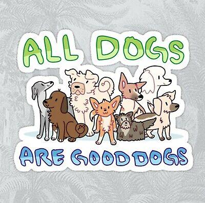 Good proud Dog puppy golden pug lab Sticker decal car laptop
