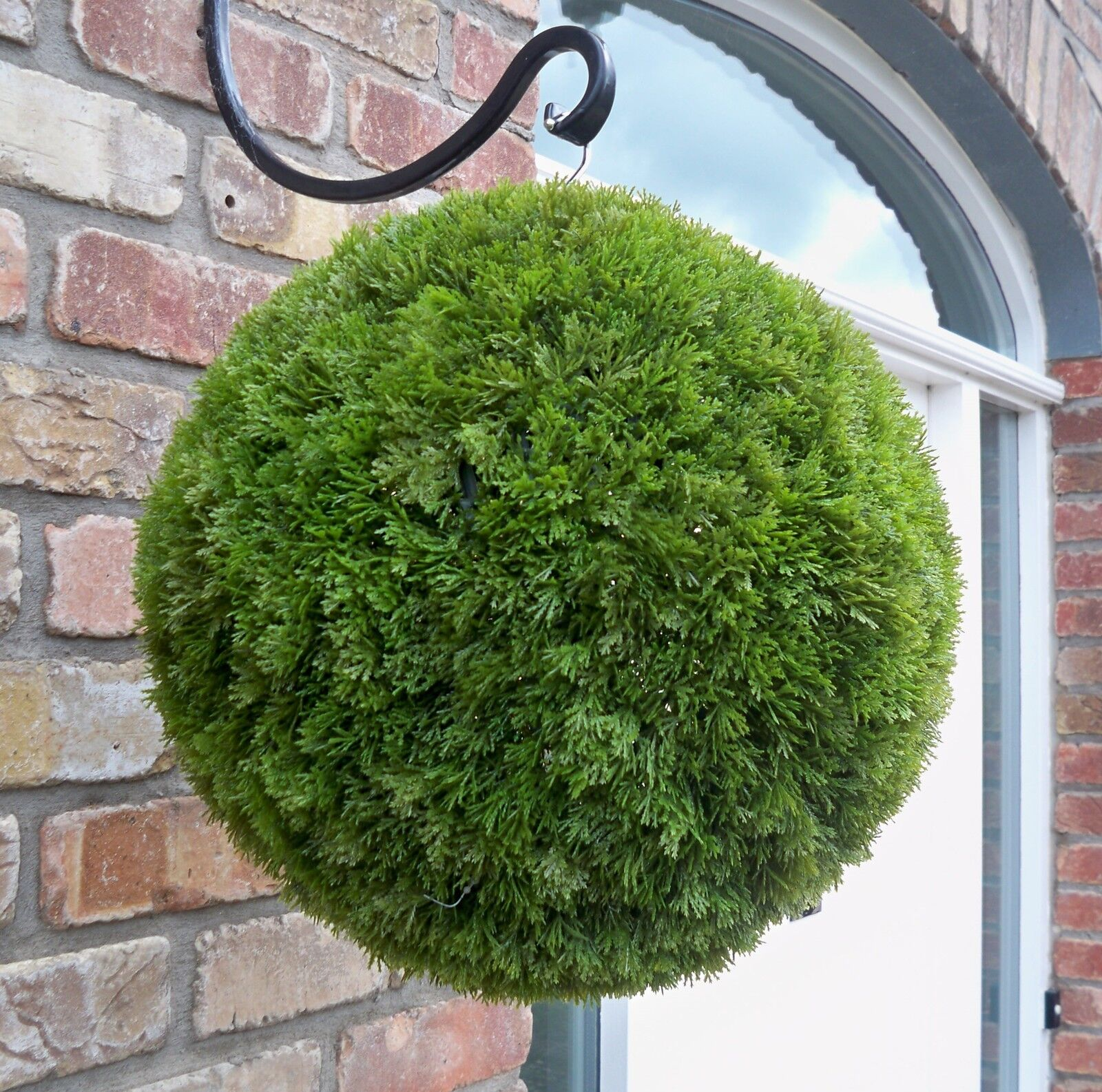 Artificial Topiary Balls Part - 39: Best Artificial 38cm Conifer Topiary Ball Alt Boxwood Buxus Grass Hanging  Basket