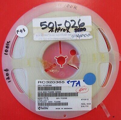 1206 Size Resistor 100k Ohm 5 Partial Reel Cr32-104j-t 3500pcs