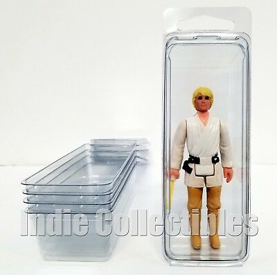 STAR WARS BLISTER CASE LOT OF 5 Action Figure Display Protective Clamshell SMALL
