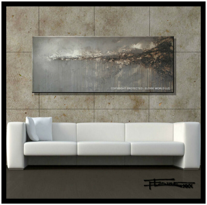 Abstract Painting Large Modern Canvas wall art, Framed, Signed, US ELOISExxx