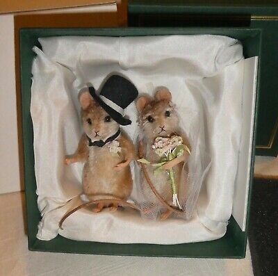 R. John Wright dolls mice Forever Bride & Groom Mouse Couple