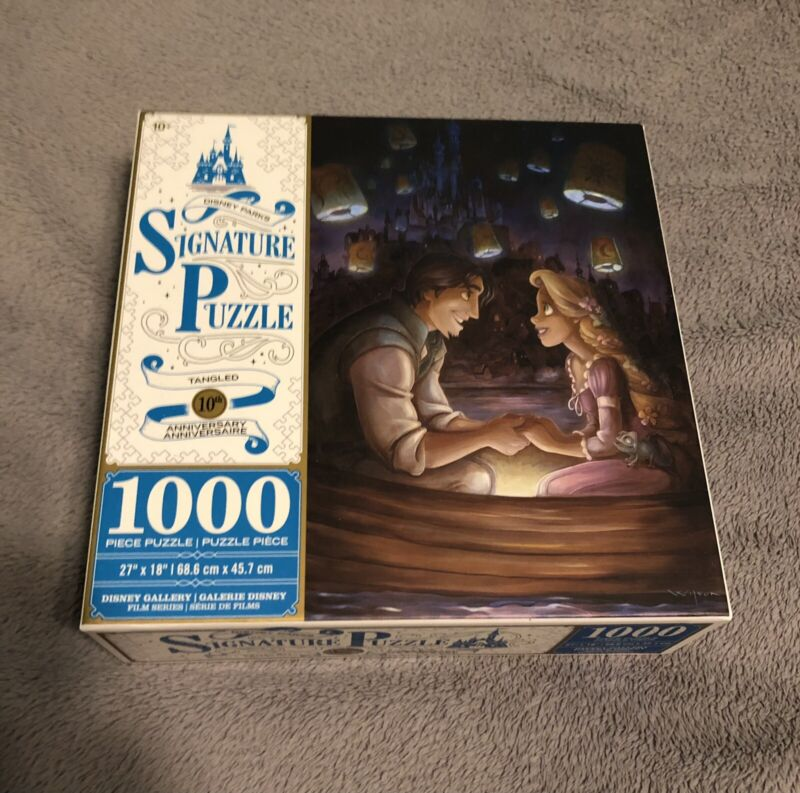 Disney Parks Tangled Rapunzel and Flynn Rider 1000 Piece Jigsaw Puzzle