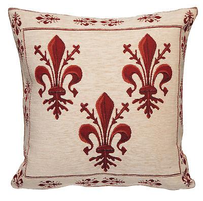 French Accent Pillow - Fleur de Lis Cushion Cover - Fleur de Lis Tapestry Decor