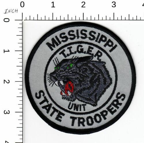 MISSISSIPPI STATE TROOPER T.I.G.E.R. UNIT MS POLICE SHOULDER PATCH SUBDUED