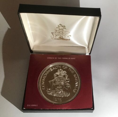 1975 Bahamas Ten Dollar Coin $10 Independence Day Sterling Silver Proof