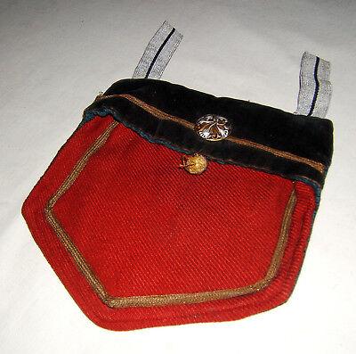 Säbeltasche für Kinderuniform, Handarbeit, Kaiserzeit, sehr seltenes Stück.