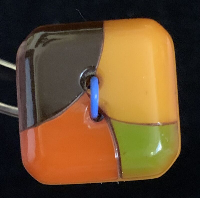 Very Cool Vintage 4-Color Bakelite Button