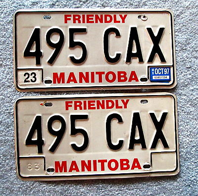 1983 Manitoba License Plate 495 CAX BUY ONE OR TWO mspu