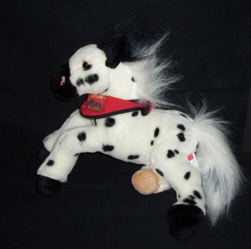 Wells Fargo Bank BILLY Plush Legendary Pony Horse Black White Spots Stuffed