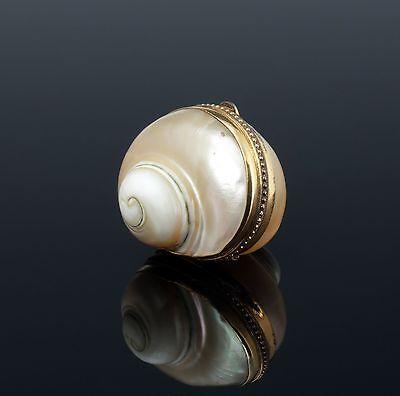 seltene Perlmutt Tabatiere 1840 Schneckengehäuse mother of pearl snuffbox