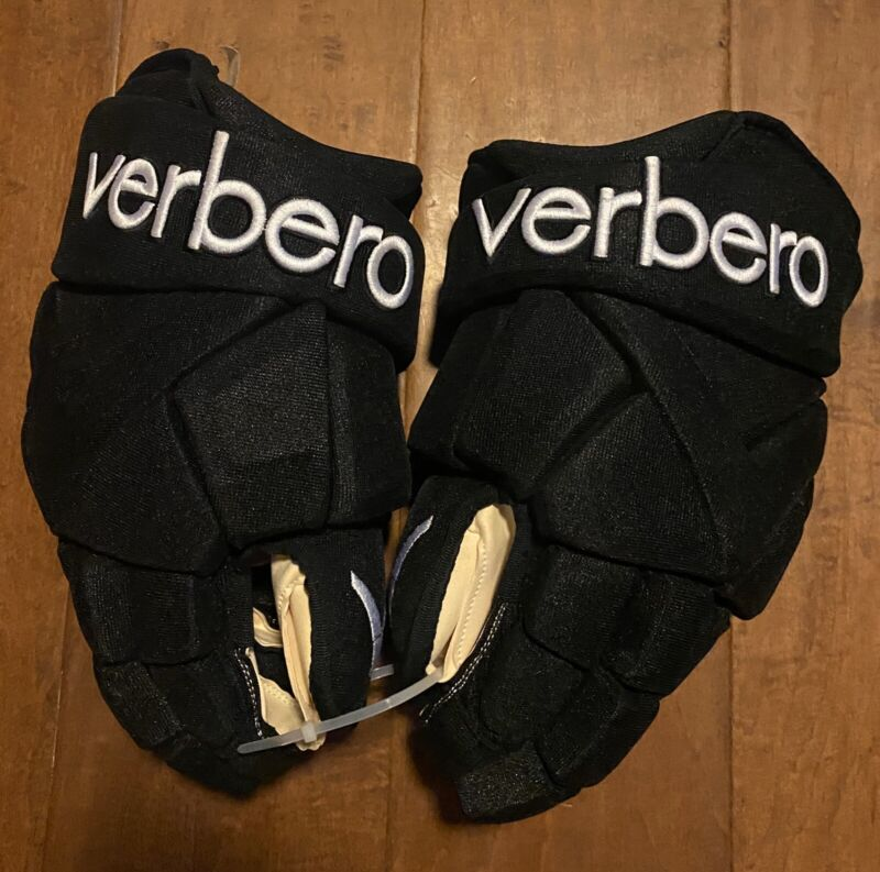 Pro Stock  Verbero Hockey Gloves Sizes 14 Dark Black/White