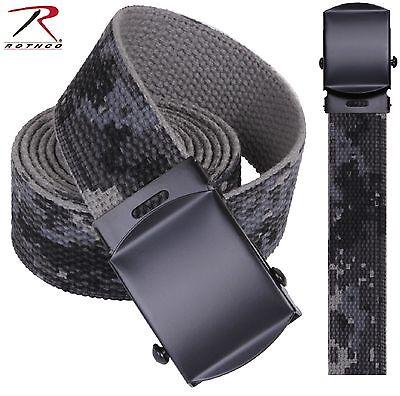 Black & Gray Subdued Urban Digital Camouflage Reversible Cotton Web Belt