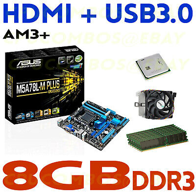 GAMING COMBO AMD Athlon 260 DUAL CORE CPU+8GB DDR3 RAM+ASUS HDMI Motherboard