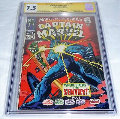 Marvel Super-Heroes #13 CGC SS Signature Autograph Signed Comic ROY THOMAS Carol