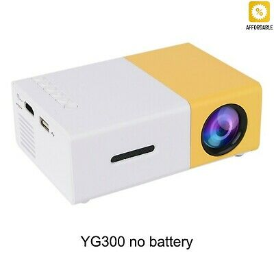 Mini Portable Pocket LED Projector Beamer LCD Video For Kids HDMI SD USB YG-300
