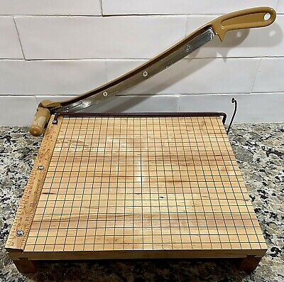Ingento Hardwood Maple Guillotine Paper Cutter 14 Steel Blade Gbc