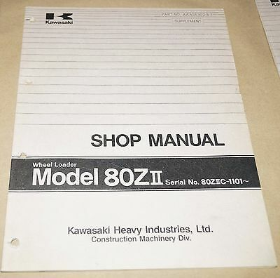 Kawasaki Model 80zii Wheel Loader Service Shop Manual 80ziic-1101