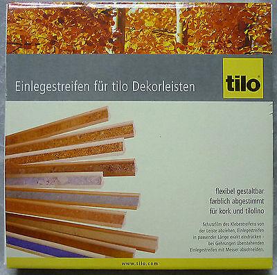 Einlegestreifen Tilo Dekorleisten Pearl Linoleum 10 Meter - NEU OVP