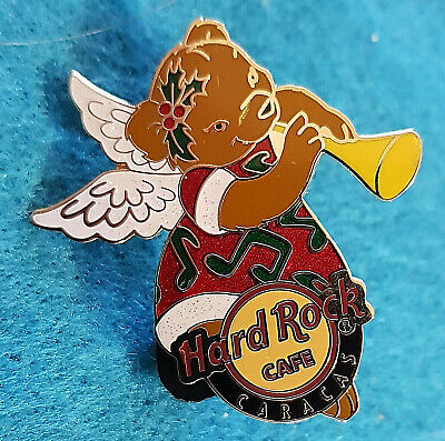 Caracas Girl - CARACAS MEXICO XMAS BEAR GIRL ANGEL PLAYING MUSICAL HORN Hard Rock Cafe PIN LE