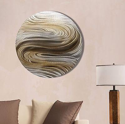 Metal Abstract Modern Wall Art Home Decor - Aurora Stream Brown by Jon Allen