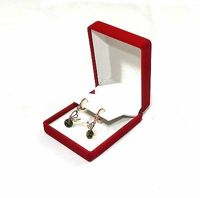 12 Drop Dangle Large Earring Red Velvet Gift Boxes Jewelry Display