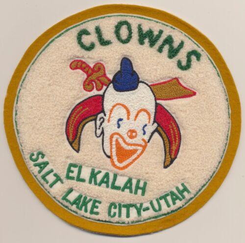 Shriners International Creepy Clown Association Elkalah SLC Ut Masonic Patch