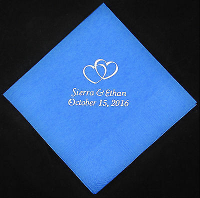 Personalized Dinner Napkins (100 Personalized Wedding luncheon napkins dinner custom printed wedding)