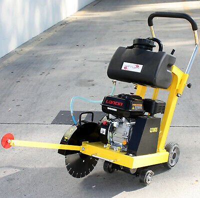 14 6.5hp Gas Walk Behind Cut-off Saw W Blade Tank For Concrete Cement Floor