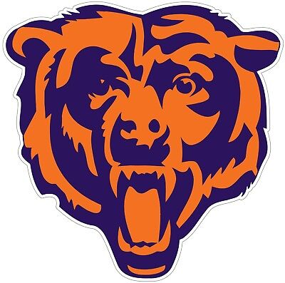 (Chicago Bears Logo NFL Color Vinyl Decal / Sticker Sizes Free Shipping)