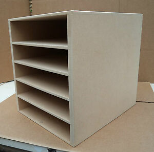 Hand Crafted Freestanding A4 Mdf Paper Storage unit with enclosed top