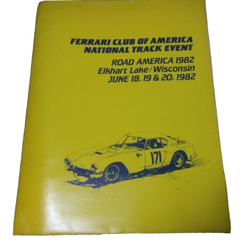 1982 Ferrari Club Of America National Track Event Brochure