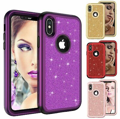 Bling Glitter Shockproof Sparkling Case Covers For iPhone Xs Max XR X 7 8 Plus Cases, Covers & Skins