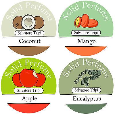 Patchouli Solid Perfume (Natural Solid Perfume 10g Salvatore Tripi Jasmine Patchouli Cedarwood Mango Rose)